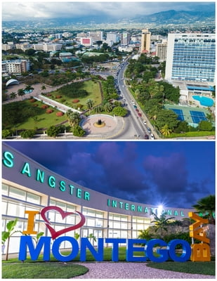 New Kingston/ Liguanea area - Donald Sangster's Airport  Montego Bay)