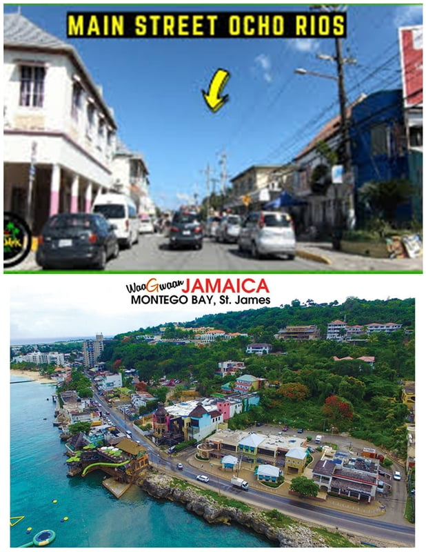 From Ocho Rios Main Street - Hip Strip Mobay ( Round Trip)
