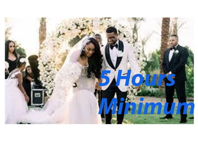 Wedding Escort Services (5 hrs minimum)